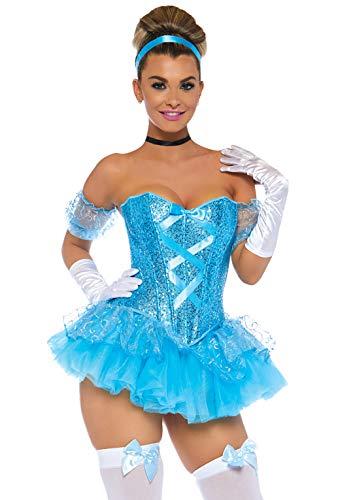 Leg Avenue-La Cenicienta Mujer, Color aqua, Large (EUR 42-44) (8502503225)