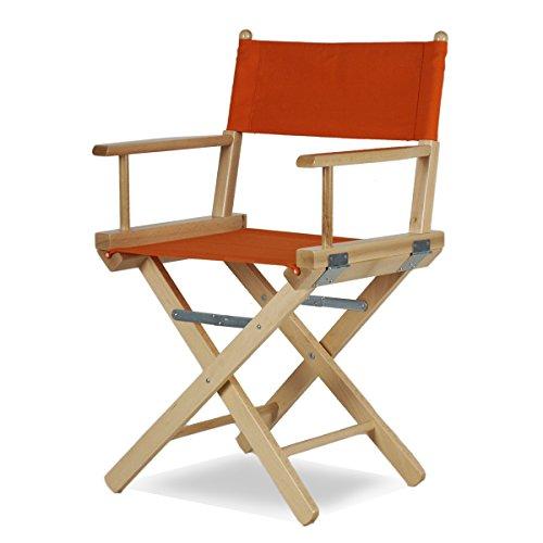 Arredasi Regista P Chaise en bois teinté naturel et tissu orange