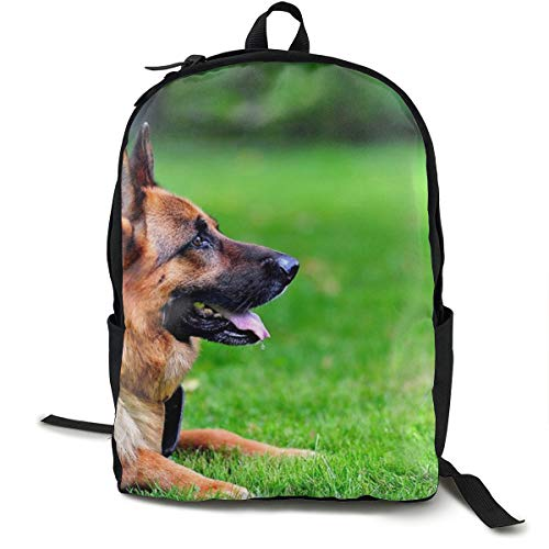 Mochila para la Escuela con diseño de Pastor alemán para Perros, Gatos, Viajes, portátil, Mochila Informal para niños, Estudiantes, Adultos