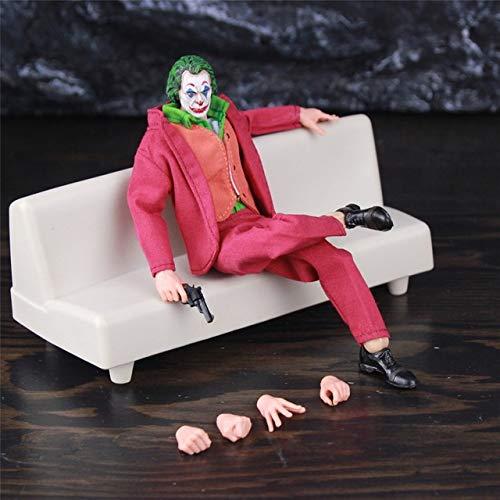 Hyzb Figura de acción de Joker Arthur Fleck Joaquin Phoenix Todd Phillips Película 1:12 1/12 uno: 12 Ropa Juguetes muñeca Modelo Cara del Payaso (Color : Joker with Sofa)