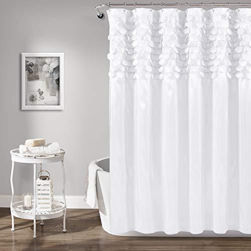 Lush Decor Lillian Duschvorhang, weiß, 183 x 183 cm