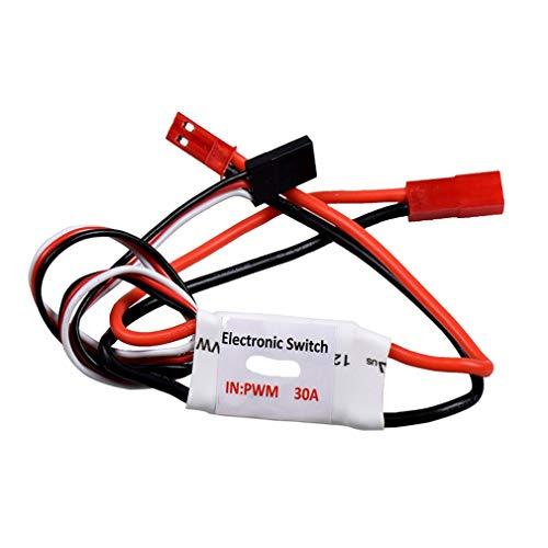 HehiFRlark 30A 3.7V-27V Control Remoto Interruptor electrónico Interruptor de Bomba Receptor PWM Señal Multicolor