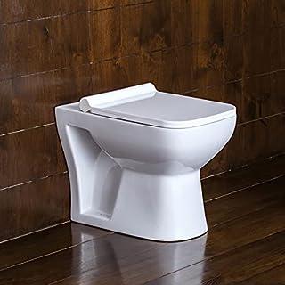 Preks Bathroom Floor Mounted EWC Toilet With Seat Cover (P-Trap)