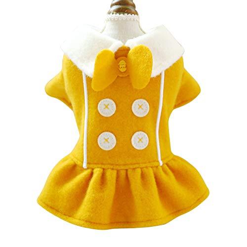 SHUUMEEKAペット服 ワンピース 犬服 ドレス 可愛い 犬猫用 スカート 秋冬服 お姫様 プリンセス 防寒 ドッグウェア 仮装 小中型犬 結婚式