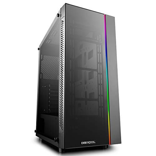 DeepCool Matrexx 55 ADD-RGB Case ATX USB 3.0 PC Gaming 0.6MM SPCC 1*Strip RGB Rainbow Addressable 5V Frontale & Pannello Laterale in Vetro Temperato (AxPxL 480x440x210 mm)