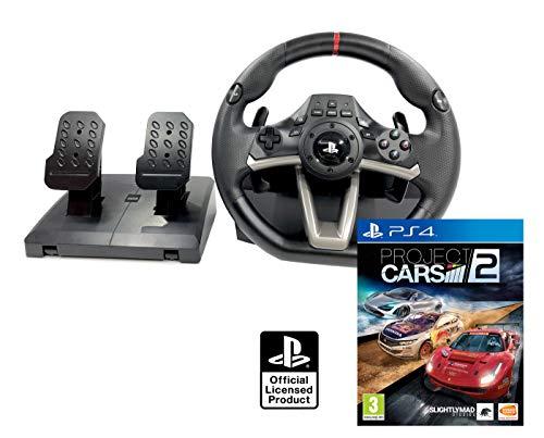 Volante y Pedales PS4 con Licencia Original Sony Playstation 4 RWA + Project Cars 2