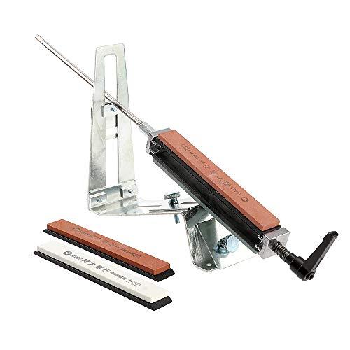Dyna-Living Messerschärfer Manuell, Messerschaerfer mit 4 Schleifstein, Messerschleifer und Schleifstein Set