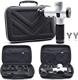 Carrying Case Compatible for Hyperice Hypervolt Plus /Hypervolt Bluetooth with 5 Attachment Slots,Shock Resistant Travel Storage Bag Compatible for Hyperice Hypervolt Massage Gun Device