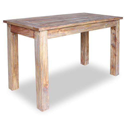 Festnight Esszimmertisch Esstisch Küchen Tisch Recyceltes Massivholz Handgefertigt Esszimmer Holztisch 120 x 60 x 77 cm