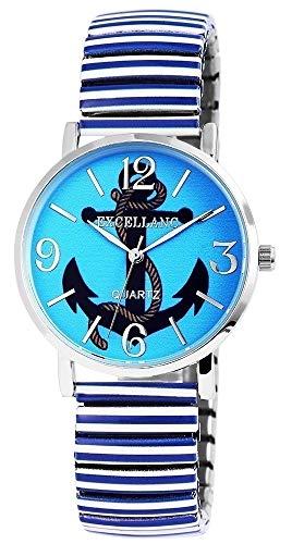 Damenuhr Armbanduhr Mehrfarbig Metallzugband Br 18mm Blau 170628800007