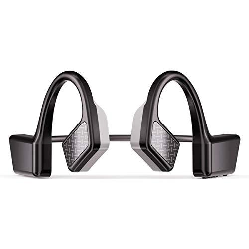 Homeriy Auriculares inalámbricos de conducción ósea Auriculares estéreo gancho de oreja con micrófono