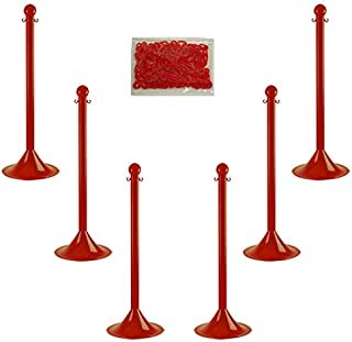 Best red white plastic chain Reviews