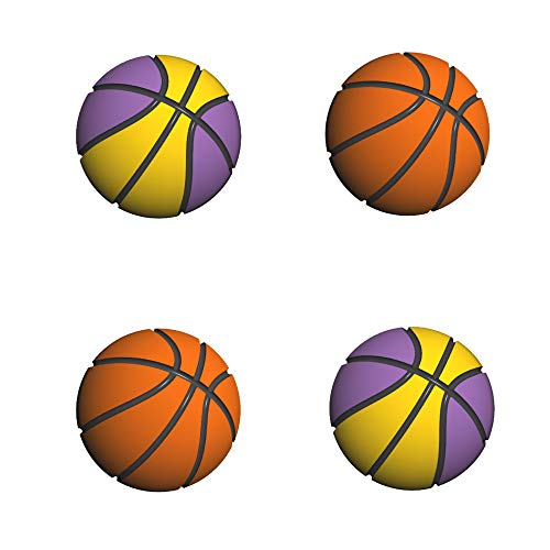 LeyuSmart Basketball Theme Thumb Grip Caps for Nintendo Switch & Lite, Sport Skin for 2K21 2K20 Switch, JoyCon Cover Joystick Caps for Thumb Stick (4Pcs)