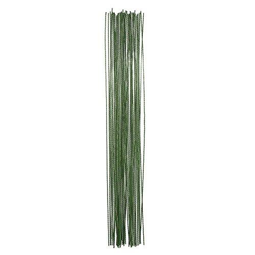 100 Pezzi Fiori Fioristi Decorativi Stelo Filo 26 Calibro (0,5 mm) 14 Pollici, Verde Scuro