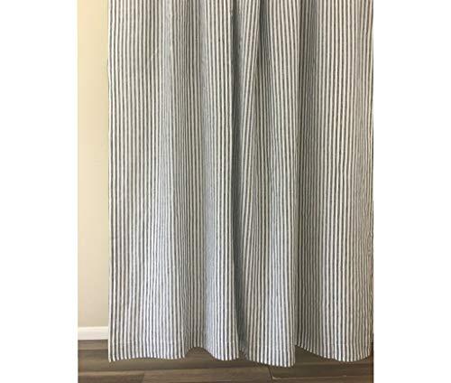 Slate Gray and White Striped Shower Curtain – Mildew-Free, 72x72, 72x85, 72x94. Bathroom Curtain, Bathroom Decor