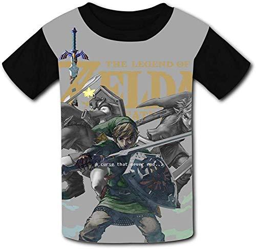 guoweiweiB T-Shirts Hemden Jungen Tops The Le_gend of Zel-da Tloz Triforce Unisex Kids T-Shirts 3D Printed Fashion Youth T Shirt Tees for Boys Girls
