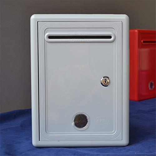 Yzibei brievenbus, kleurrijk, voor suggesties aan de muur, met slot en brievenbus, waterdicht