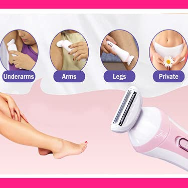 Trimmer for women - Owme 3 In 1 Bikini trimmer for hair removal women private part and underarms legs Hair Removal Electric Lady Trimmer (Baby Pink)