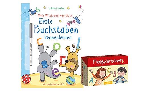 Mein Wisch-und-Weg-Buch: Erste Buchstaben kennenlernen: mit abwischbarem Stift...