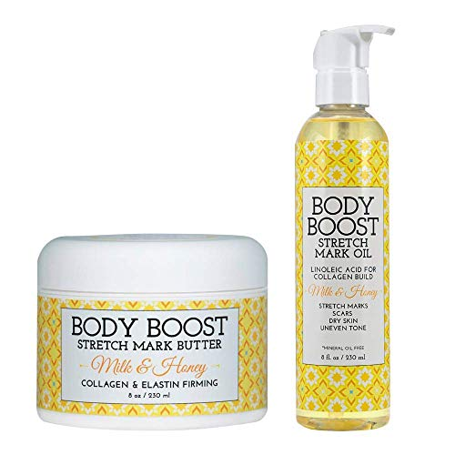 Body Boost Milk and Honey Stretch Mark Butter and Oil Duo