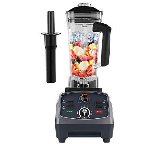 Exprimidor de 2200 W, resistente, grado comercial, temporizador automático, licuadora, licuadora, licuadora, procesador de alimentos, frutas, batidos de hielo, tarro de 2 l, titanio, gris, peng (Col