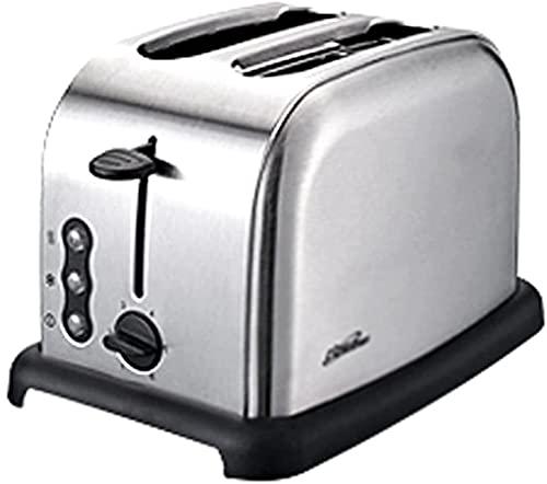 hwljxn Tostadora de Acero Inoxidable Automático 2 rebanadas Inicio Desayuno Máquina de Pan