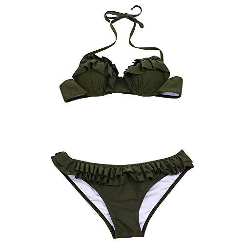 Casual stijl grote borsten Beach Wear Bikini Set zomer nieuwe mode bloemenprint Sexy badpak vrouwen tankini meisjes badmode