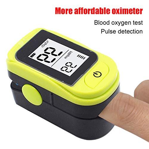 HYRL Fingerpulsoximeter Haushalts-LED-Anzeige Oximeter Fingerspitzen-Pulsoximeter Blutsauerstoffmonitor