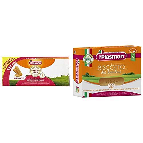 Plasmon Latte Liquido Nutri Mune 3 Biscotto - 12 confezioni da 500 ml + Biscotto Infanzia - Confezione salvagusto - Pacco da 6 X 720 g