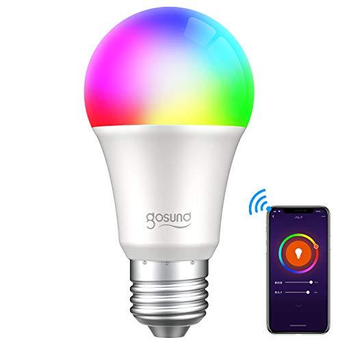 {【Amazon Alexa認定】ゴウサンド(Gosund) WiFiスマート電球 スマート LED ランプ マルチカラー E26 スマートライト Alexa/Google home対応 1600万色 追加機器不要 1個}