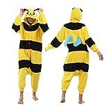 qazxsw Mono Unisex para Mujer, Mono para Adultos, Historia de Abeja, Disfraz de Halloween, Disfraz de Abeja de poliéster para Adultos