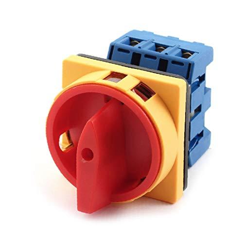 X-DREE 40A ON/alto rendimiento OFF Interruptor de esencial cambio de leva bien hecho rotativa de montaje en panel de 2 posiciones(3d9-4f-8d-d81)