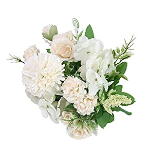 homozy Artificial Flowers Silk for Wedding Decoration, forVarious DIY Materials. Also Be Used for Anniversity, Party, Memorial Ceremony