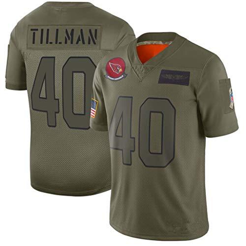 NBJBK NFL Jersey Panthers Ravens Cardinals Redskins Fußballtrikot Besticktes Kurzarm-Sport-Top-T-Shirt,B,M