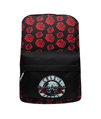 Guns N Roses Backpack Rucksack Bag Rot Roses Band Logo Nue offiziell