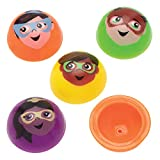 Baker Ross AT978 Jouets sauteurs super héros- Mini jouets pour enfants (Paquet de 12)