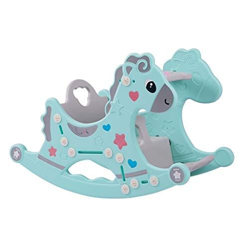 HEMFV Juguetes for Montar Silla de bebé Balancín Caballo Mecedora for niños Zona Infantil de Juegos de jardín de Infancia Animales de plástico Juguetes