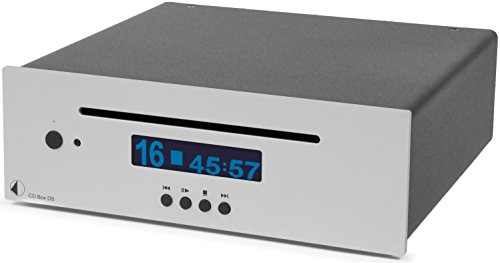 Pro-Ject CD Box DS, High End Audio CD Player mit 24bit/192kHz Burr Brown DAC (Silber)