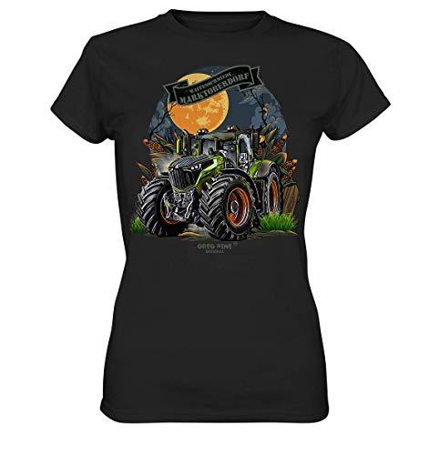 GREG PINE Waffenschmiede Marktoberdorf Traktor Schlepper Trecker Trekker Vario stufenlos Joystick Fahrpedal Landmaschinen Lohnunternehmen Lohner Agrar Landwirtschaft Technik-Fan Girlie-Shirt Damen