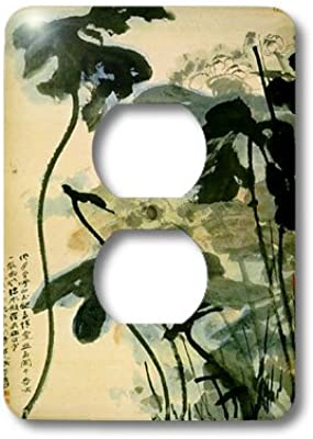 3drose Lsp 62635 6 Picture Of Ancient Chinese Lotus Painting Plug Outlet Cover Outlet Plates Amazon Com