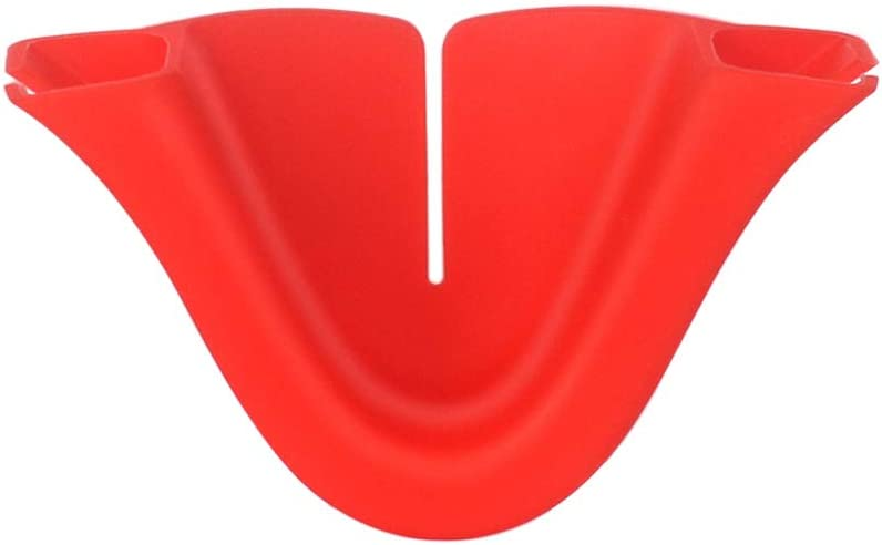 S-YUWEN VR Headset Anti-Leakage Silicone Nose Pad Blackout Cover Protective Cushion for Oculus Quest 2 Face Eye Mask Support Holder Accessories(Red)