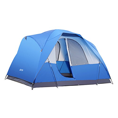 SEMOO Water Resistant 5 Person D-style Door Large Family Camping/Travelling Tent with Carry Bag