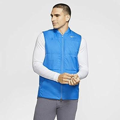 Nike Men's Synthetic-Fill Golf Vest (Blue/Grey, Large)