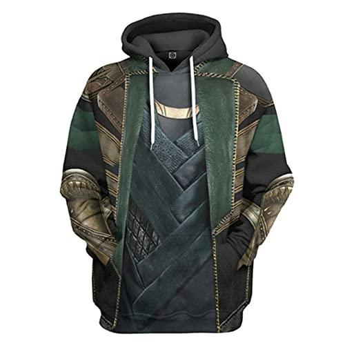 WKDFOREVER 3D Captain Fashion Cosplay Hoodie Jacket Costume (Medium, Loki 4)