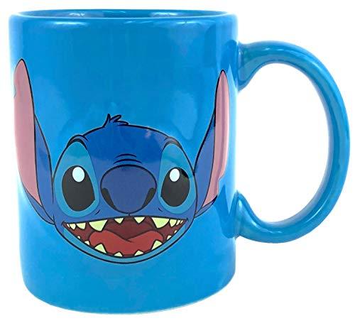 Disney Lilo And Stitch - Taza de alivio 3D, color azul