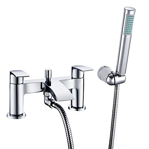 [Robinet de baignoire] HAPILIFE Mitigeur de Baignoire Cascade de Salle de Bains avec Douche à Main Chrome