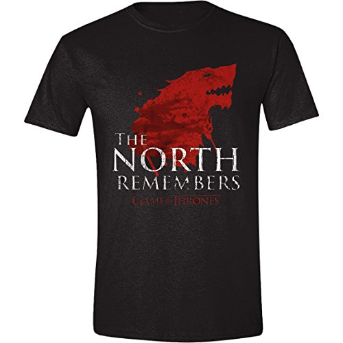 Game of Thrones - The North Remembers Hombres Camiseta - Negro - Tamaño Small