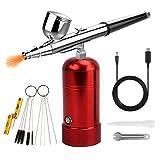 Mini compresor aerógrafo profesional USB Charging Kit Set Airbrush aerógrafo Pistola de pulverización para modelismo, pintura, uñas, pastelería, tarta en spray, maquillaje