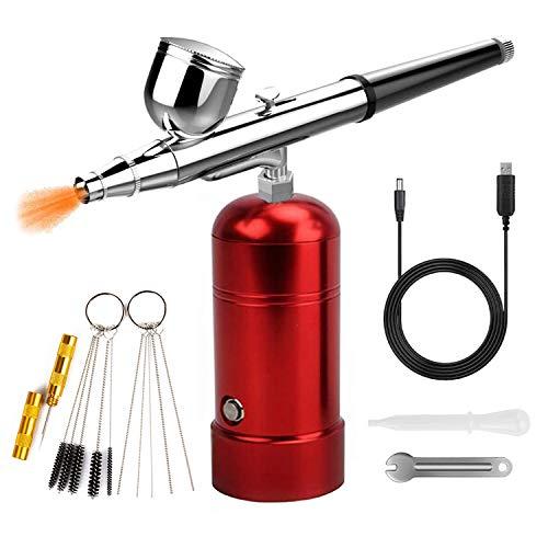 Mini compresor aerógrafo profesional USB Charging Kit Set Airbrush aerógrafo Pistola de...