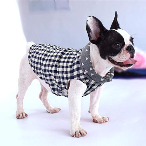 PONNMQ Pet Clothes French Bulldog Puppy Dog Clothes Coat Dog Jacket Winter for Small Medium Dogs Chihuahua Yorkshire Ropa Para Perro,Blue,S